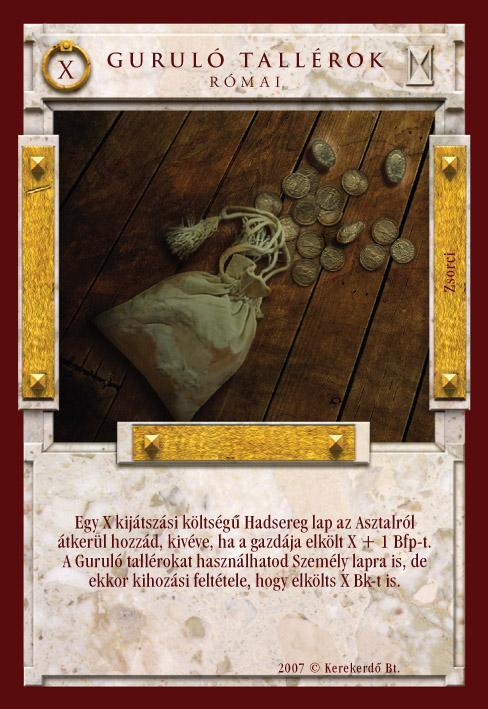 Imperátor Kártyajáték :: Guruló tallérok