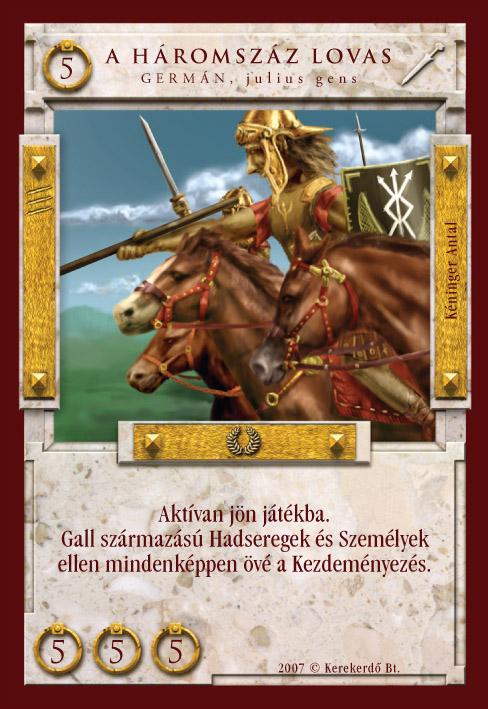 Imperátor Kártyajáték :: A háromszáz lovas